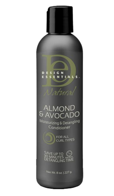 Design Essentials Almond & Avocado Moisturizing & Detangling Conditioner. Mentioned in one of Curly Proverbz vids on YT.