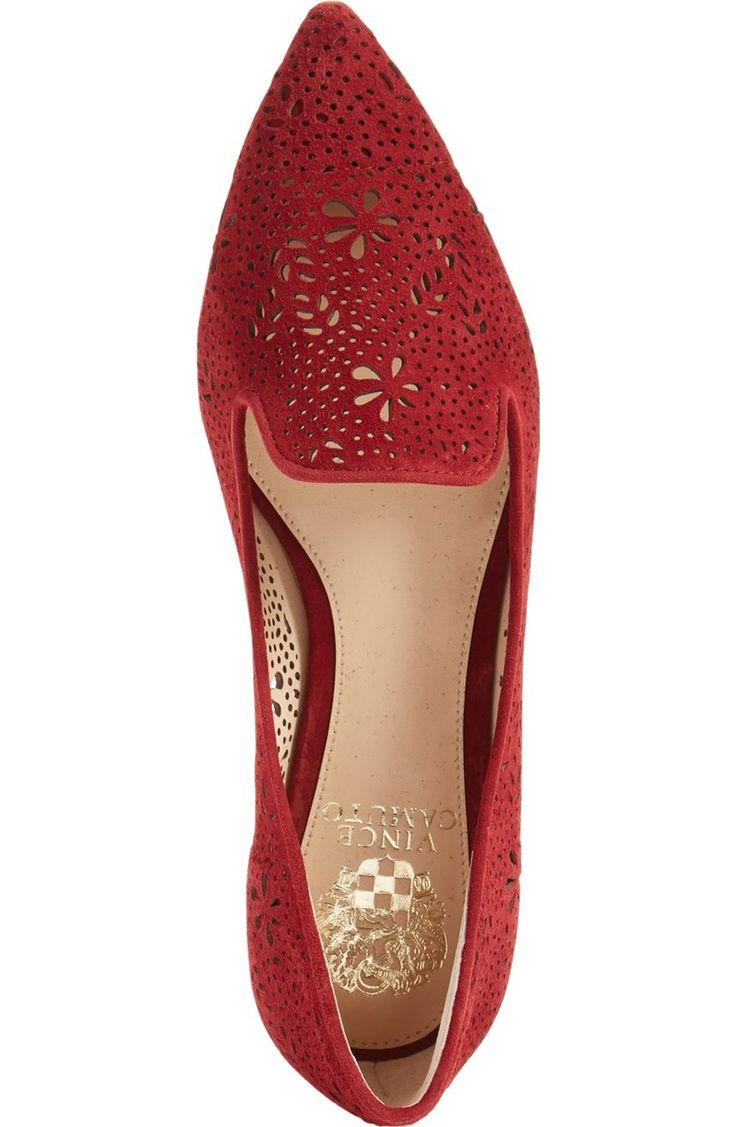 These pretty red perforated flats need to be part to the collection! - adding to the NSale shopping bag now!