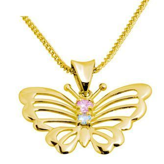 Buy our Australian made Gold Butterfly Pendant with Zirconia - BEE-64635-CZP online. Explore our range of custom made chain jewellery, rings, pendants, earrings and charms.