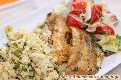 Nóri mindenmentes konyhája: Gyorsan pácolt tengeri hal zöldfűszeres kölessel