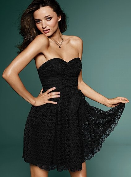 Strapless lace dress