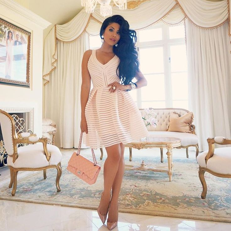 Today's look for my boo @ashley__fargo surprise birthday brunch. Wearing #Maje dress #Louboutin #pigalle #Chanel medium flap bag. Hair volume courtesy of my @leylamilanihair #BigHairDontCarePowder and #bigteasecomb Available at www.LeylaMilaniHair.com