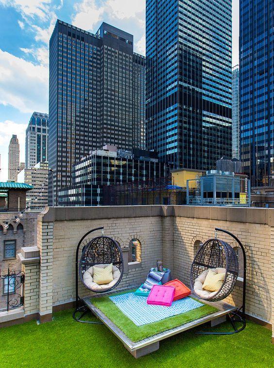 La terraza en el piso 17 del hotel W en NY se transformó por completo.