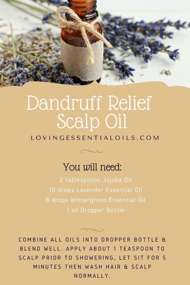 Dandruff Relief Scalp Oil Recipe With Essential Oils | Wintergreen Oil | Lavender Oil | Jojoba Oil | Dandruff Remedy