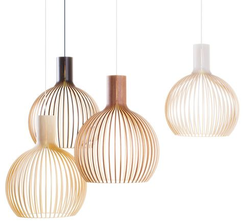 "Cool Pendant lamps by the Finnish Secto Design, called ""Octo 4240"""
