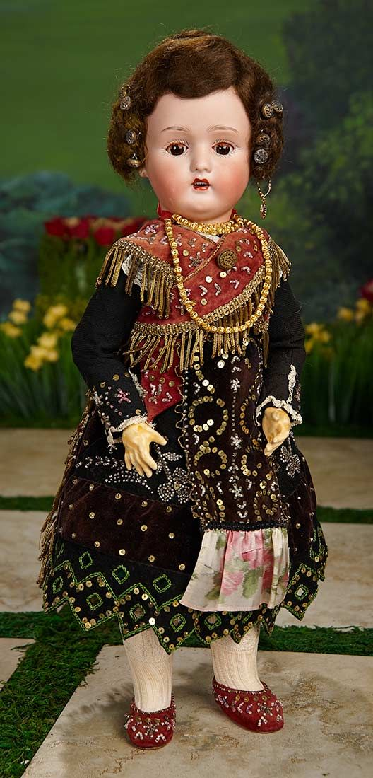 """""""I Only Wanted to Wonder"""" - August 1, 2017: 399 French Bisque Doll, Beaded Folk Costume from Shirley Temple's Childhood Doll Collection"""
