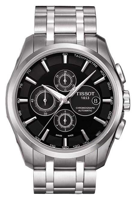 Ανδρικά Ρολόγια : TISSOT TREND Couturier Automatic Chronograph Steel Bracelet T0356271105100
