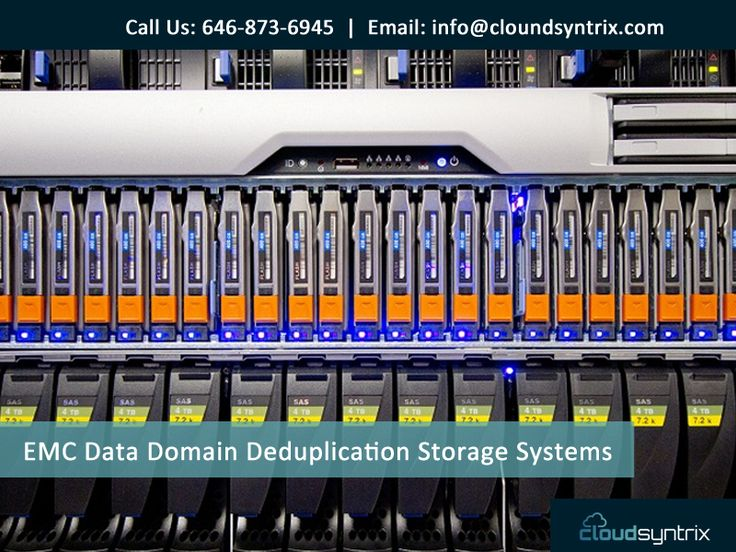 EMC Data Domain Deduplication Storage Systems