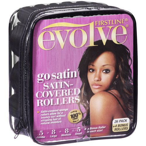 Satin Covered Rollers Natural Hair