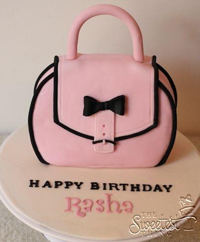 fondant handbag cake