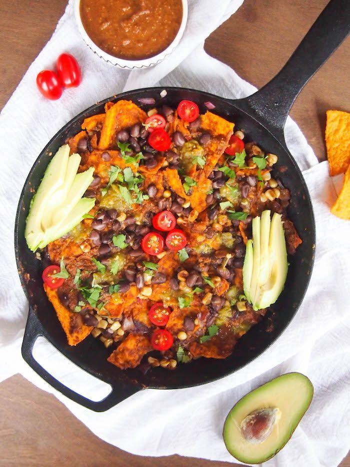 Vegan Mole Chilaquiles Registered Dietitian Columbia Sc Rachael Hartley Nutrition Vegetarian Mexican Recipes Spring Recipes Dinner Recipes