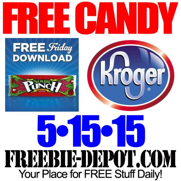 FREE Sour Punch Candy – Kroger Freebie Friday Download – FREE Digital Coupon – FREE Candy with Coupon – 5/15/15  #freebiefriday