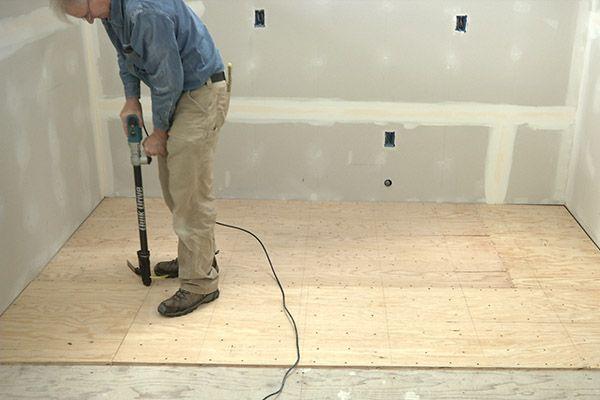 Tile Floor Tile Floor Over Plywood Subfloor