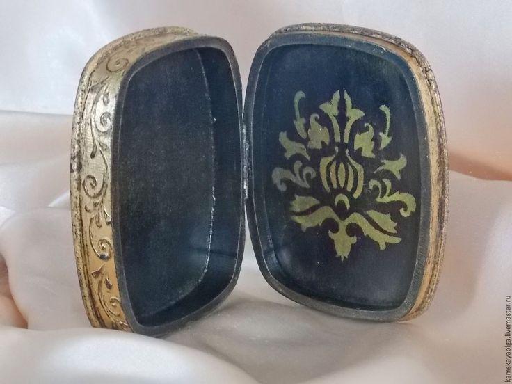 """Купить Шкатулка """"Знатная дама"""" - золотой, ольга камская, шкатулка для украшений, шкатулка декупаж"""