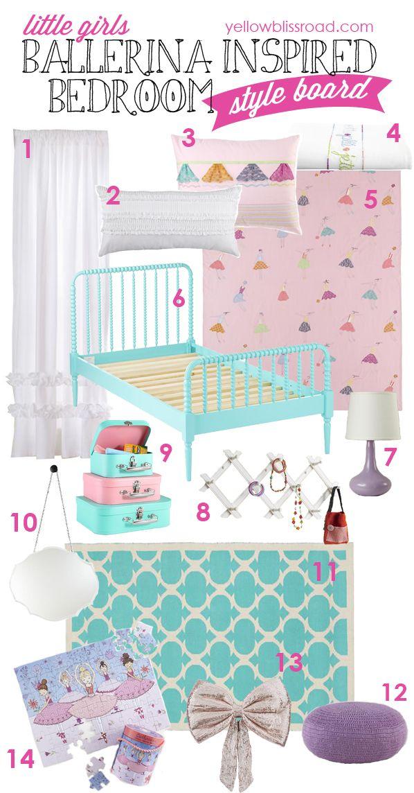 Little Girls Ballerina Bedroom Inspiration: Tons of links to fabulous inspiration for your little ballerina! #pmedia #nodca