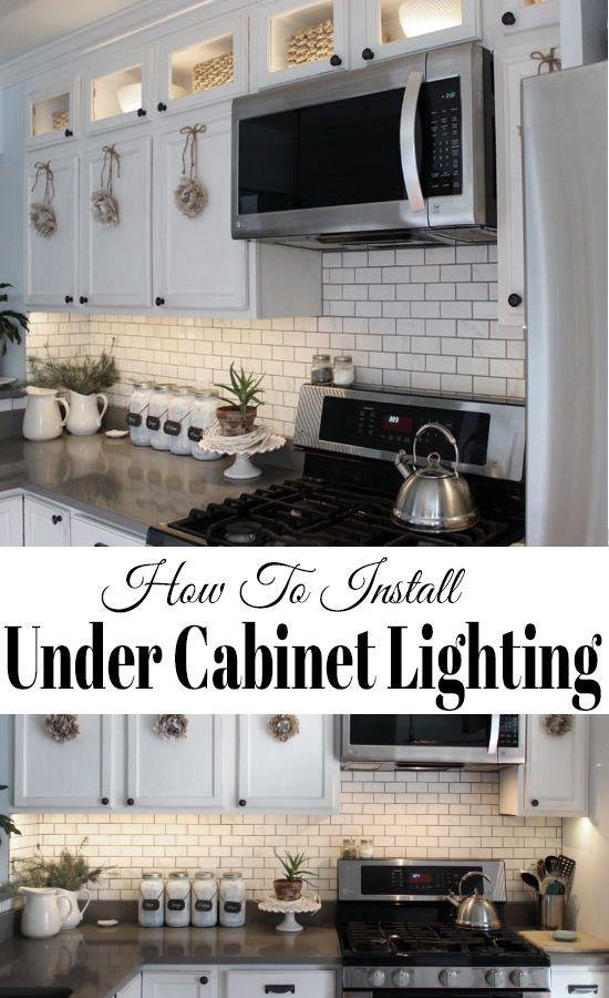 How To Install Kitchen Cabinet Lighting Under The Cabinets With Led Tape Lights I Installing Under Cabinet Lighting Installing Kitchen Cabinets Kitchen Design