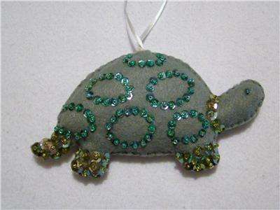 christmas ornaments seashell | Seashell Fish Turtle Felt Tropical Christmas Ornaments | eBay