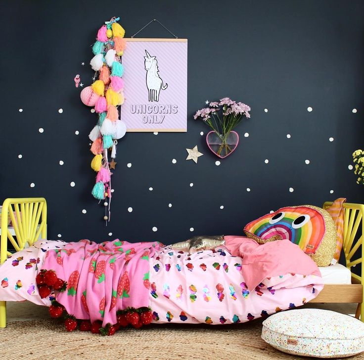 Cool kids rooms | toddler bedroom with rainbows and unicorns ✨✨✨