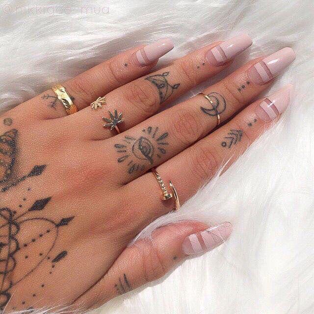tan nails design fashion