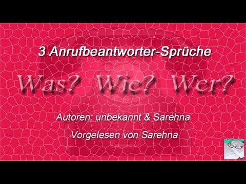 3 Was-Wie-Wer Anrufbeantworter-Sprüche, AB-Sprüche