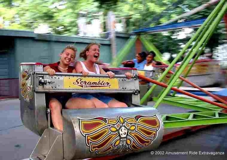 The Scrambler...I loved this ride! I always tried to sit on the inside, so I would not be the one getting smashed.