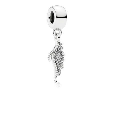 This sophisticated phoenix feather shimmers elegantly and is a subtle yet meaningful representation of the powerful legend behind the bird – equally stunning worn as a centrepiece on a bracelet or as a necklace pendant. #PANDORA #PANDORAcharm