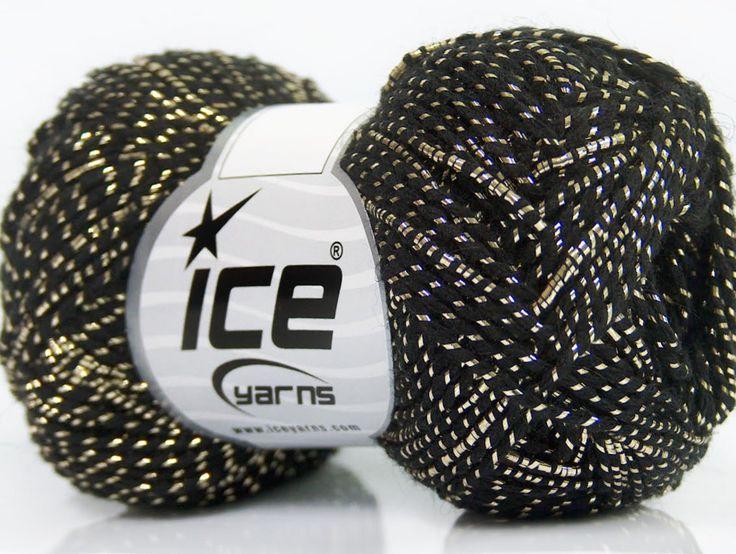Metalik - Simli İplikler Simli Lüks Alpaka Viskon Siyah Altın  İçerik 36% Akrilik 19% Metalik Simli 16% Yün 16% Alpaka 13% Viskon Brand ICE Gold Black fnt2-41414