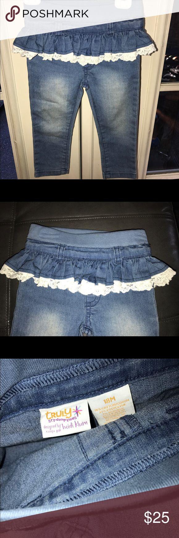 Heidi Klum baby kids jeans Size 18 M Truly Scrumptious by Heidi Klum jeans Size 18 M. No tags but never been worn. Pet/smoke free home!! heidi klum  Bottoms Jeans