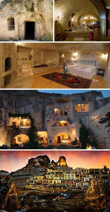 Whole new meaning to the term cave man, check out Cappadocia. Cave hotel. Yes, please!