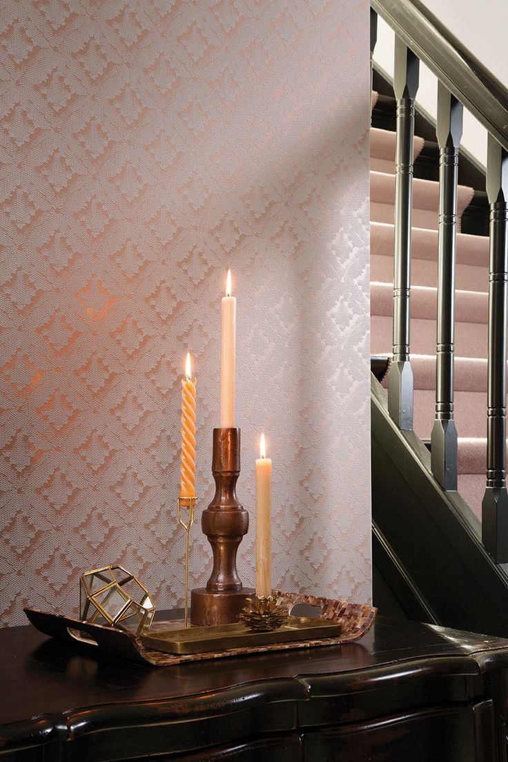 Wonderful on-trend copper wallpaper from Galerie's Boutique Wallpaper Collection
