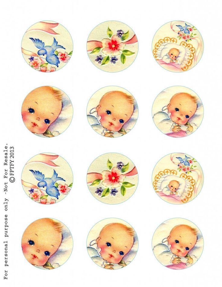 Free Vintage Baby Circles