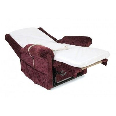 Image For Betterlife Pride Chairbed Riser Recliner Burgundy From  LloydsPharmacy