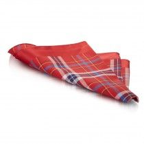 Red Tartan Mens Cotton Handkerchief