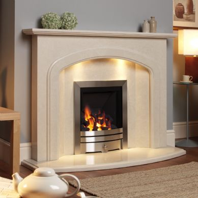 Marble fireplace surround in modern home ONLY FOR USA :-))) Will be nice to have this in home :-) www.floatproject.org
