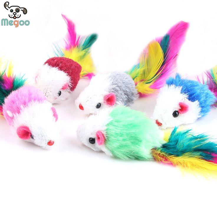 10 Pçs/lote Macio Velo Falso Brinquedos Do Gato do Rato Colorido Pena Engraçado Que Joga Brinquedos Para Gatos Gatinho em Brinquedos para Gato de Home & Garden no AliExpress.com | Alibaba Group