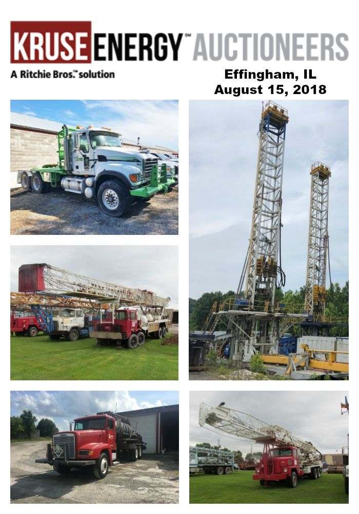 Wednesday August 15 2018 Effingham Il 9 00 Am Cdt Kruse Energy Equipment A Ritchie Bro S Solution Oil Water Well Drilling Effingham Well Drilling