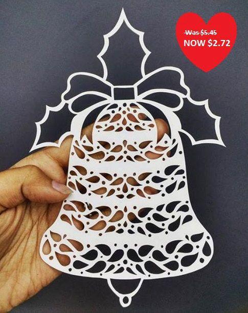 Cloche de Noël bricolage modèle Papercut