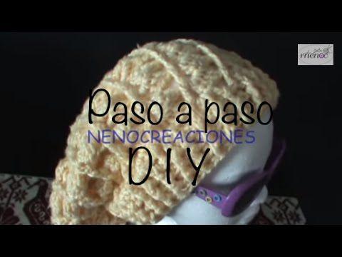 Gorro Boina Slouchy Adulto Ganchillo, Crochet Slouchy Beret 1 de 2 DIY