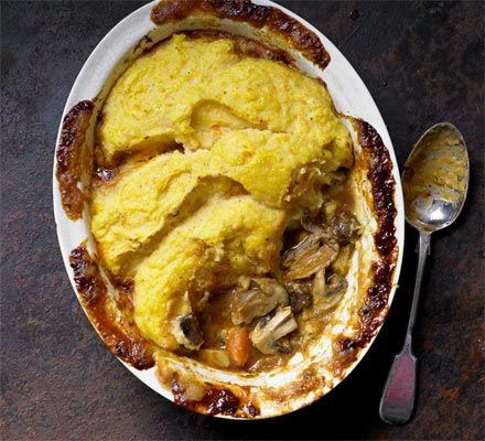 Wild Mushroom and Chestnut Cottage Pie - a great weekend meal!  Cozy comfort food :)