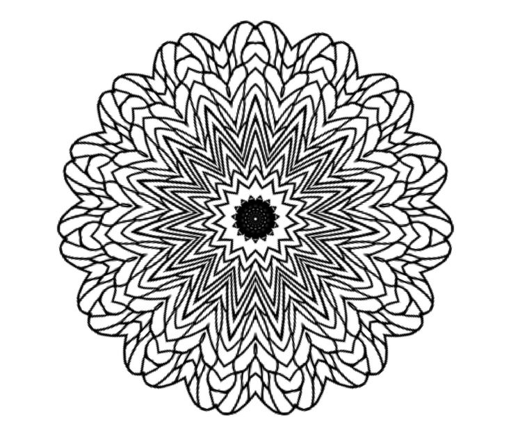 Adult Coloring Page Bee Wings Mandala Great For Relaxation And Stress Relief By KMColoring