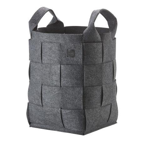 Zone Hide Vasketøjskurv - mørk grå