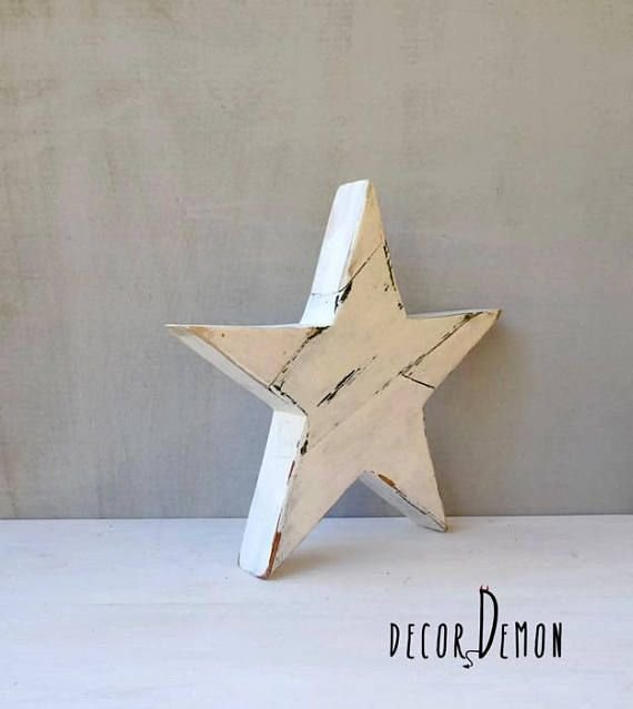 Christmas Star, Upcycled wooden star, Christmas decoration by decordemon