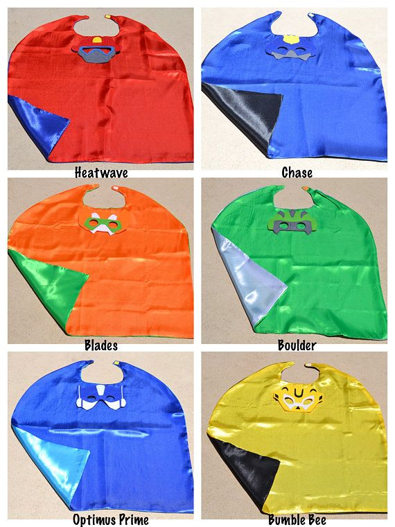 Rescue Bots Cape and Mask - Transformer Superhero Costume. Great for Child Kids Toddler Birthday Party Outfit. Personalized Name Available
