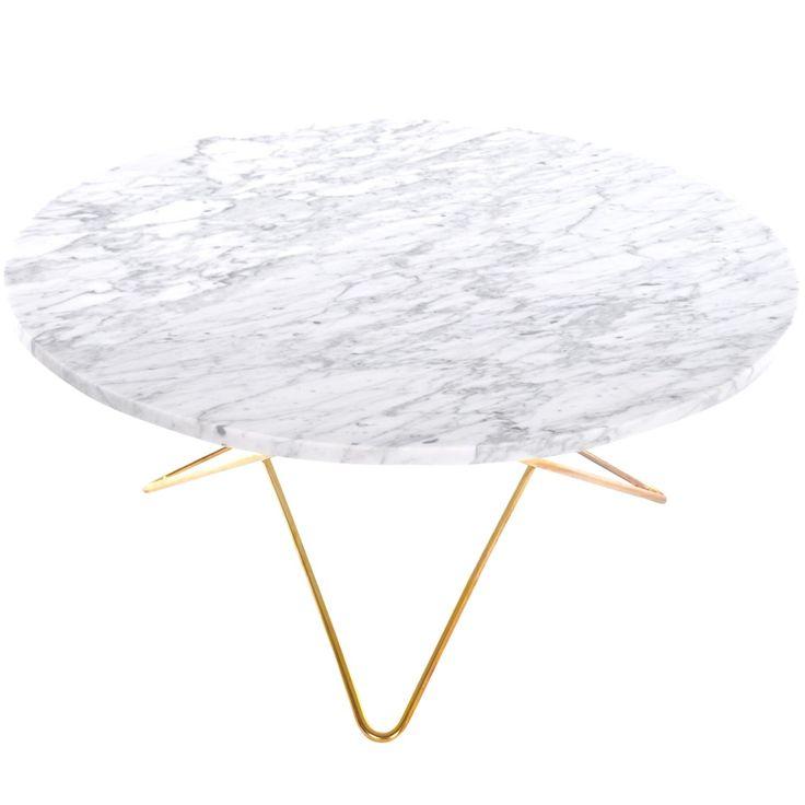 O sohvapöytä, valkomarmori/messinki ryhmässä Huonekalut / Pöydät / Sohvapöydät…
