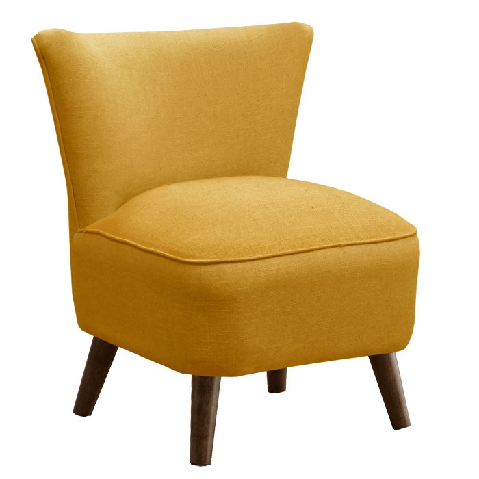 Draper Accent Chair in French Yellow