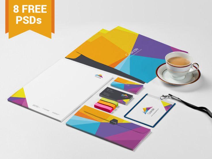 Mockups PSD de papelería para identidad corporativa gratis