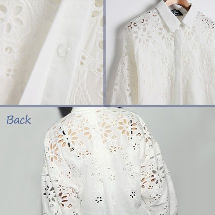 Tシャツ・カットソー レディース 長袖  デザインシャツ 白シャツ バルーン袖 2010(3)