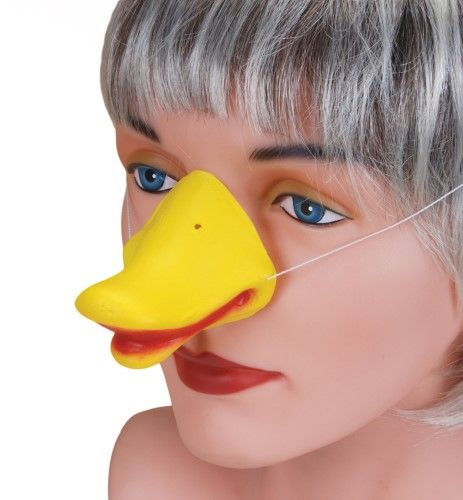 Yellow One-Size Star Power Animal Costume Accessory Duck Nose