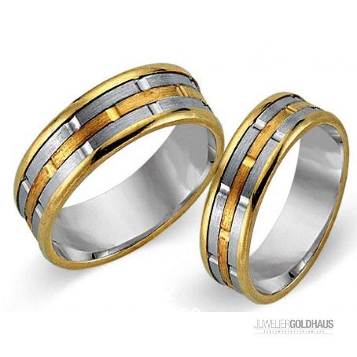 Trauringe Eheringe Gold Dreifarbig Tri-Color - CERA3022