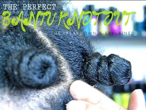 NATURAL HAIR | THE PERFECT BANTU KNOT (OUT)